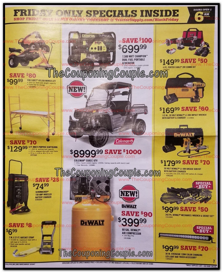 image regarding Printable Tractor Supply Coupons titled Tractor Shipping and delivery Black Friday Adverts, Revenue, and Bargains 2018
