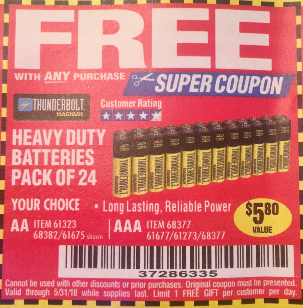 Battery discount coupons