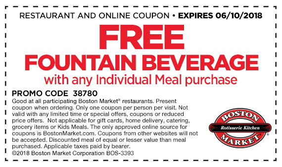 graphic relating to Printable Boston Market Coupons identify Boston market place coupon june 2018 / Valentain working day