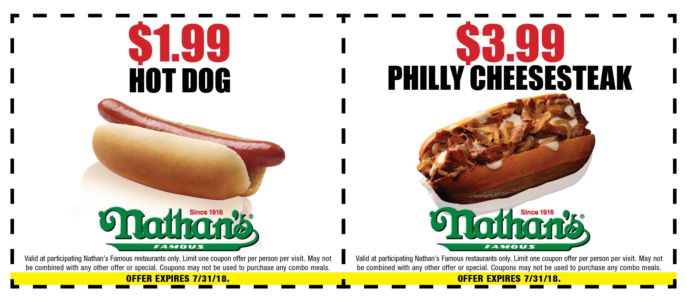 Nathan S Hot Dog Coupons July