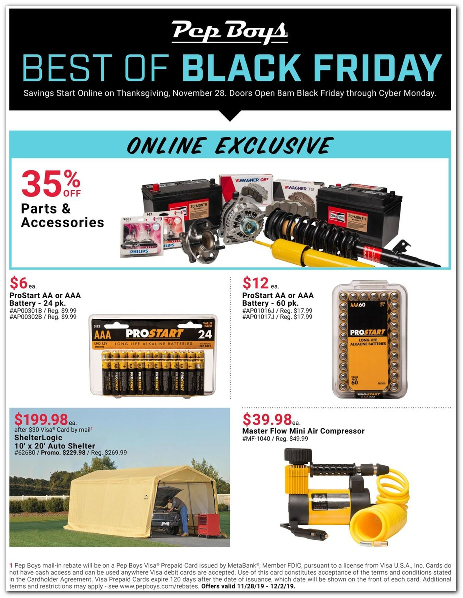 Pepboys Promo Code >> Pepboys Black Friday Ads Sales Doorbusters And Deals 2019