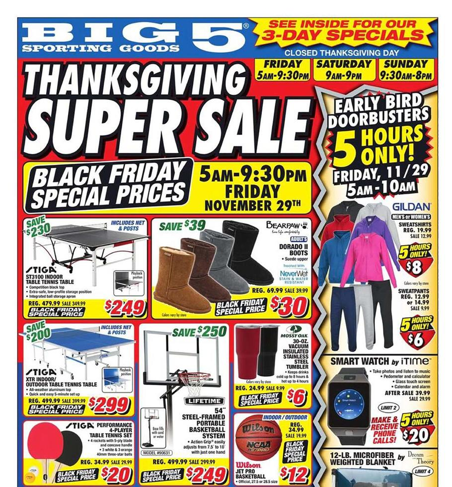 Big 5 Sporting Goods Black Friday Ads Sales Doorbusters And Deals 2019 Couponshy