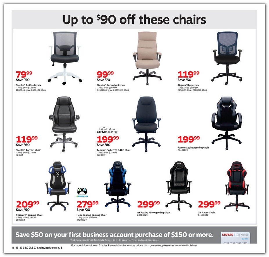 Enjoyable Staples Black Friday Ads Sales And Deals 2019 Couponshy Machost Co Dining Chair Design Ideas Machostcouk