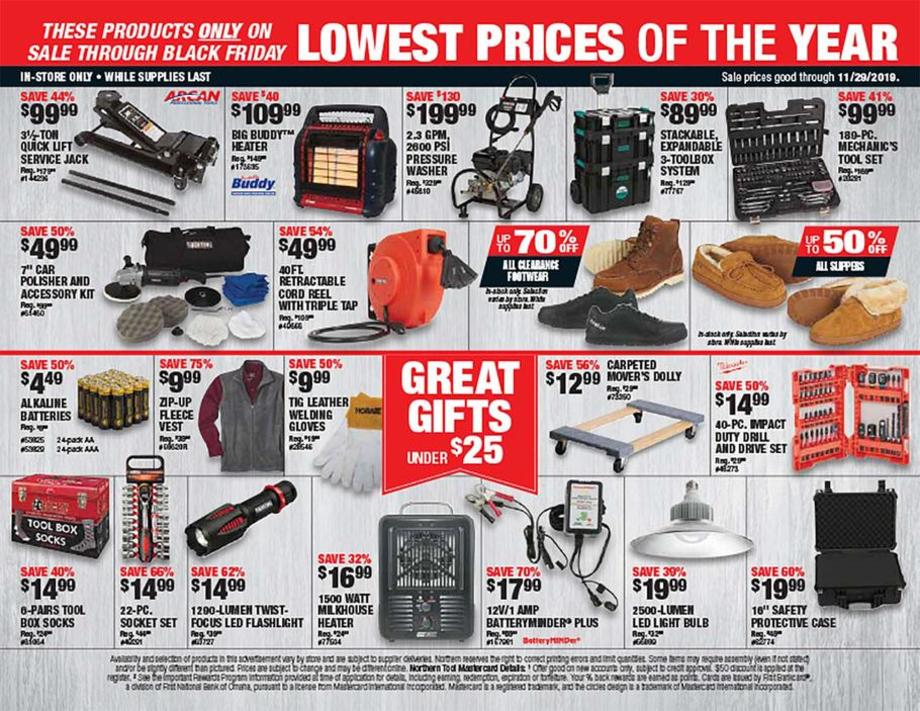Northern Tool Black Friday Ads Sales Deals Doorbusters