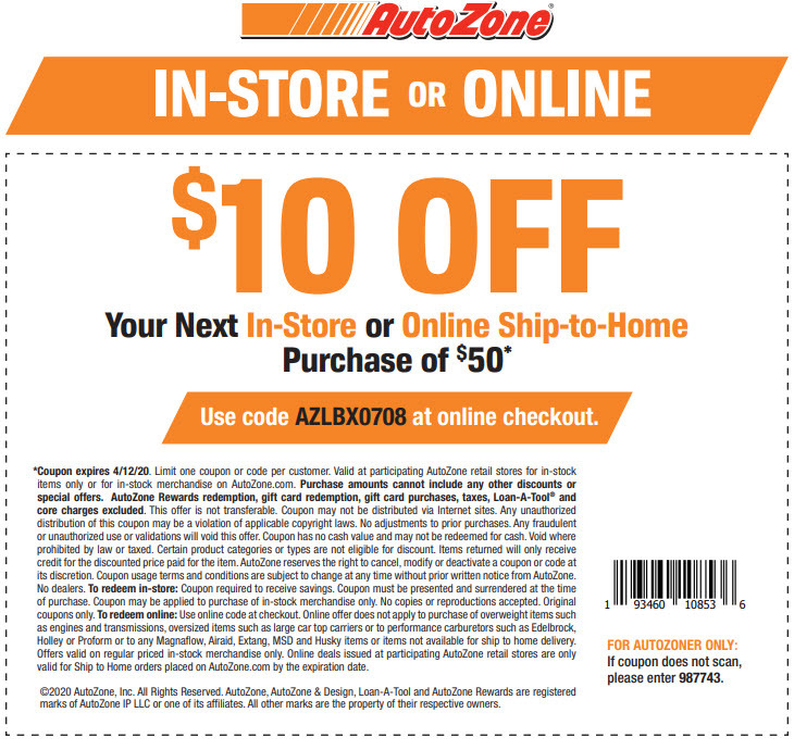 This is an image of Selective Autozone Printable Coupon 2020