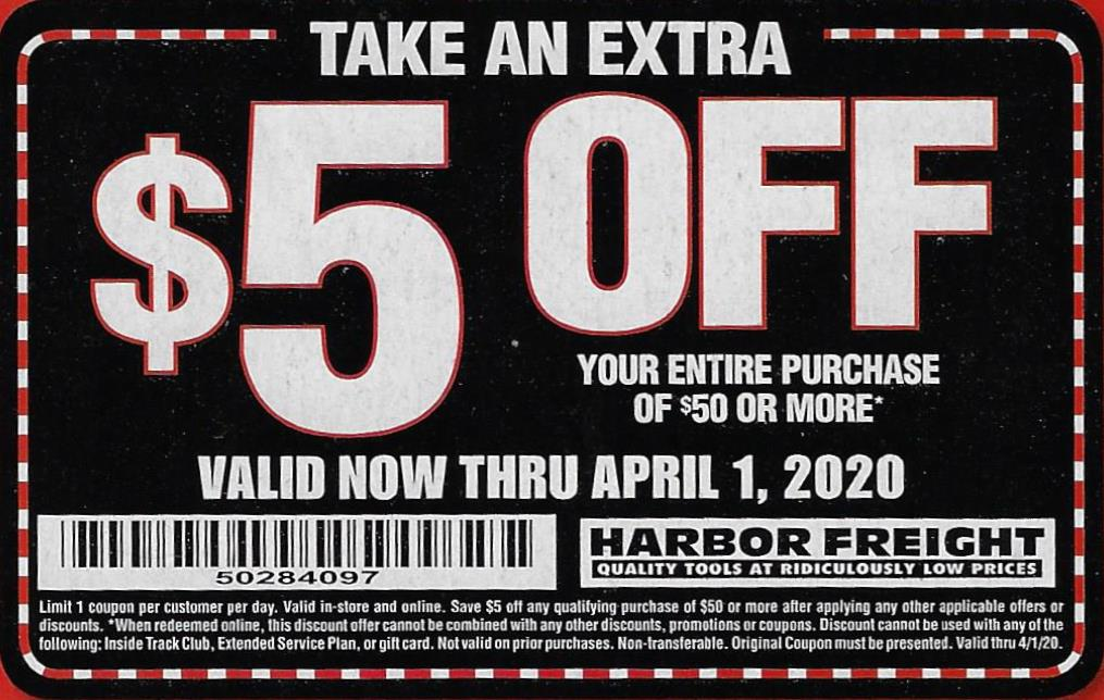 It is a photo of Satisfactory Harbor Freight 25 Off Coupon 2020 Printable