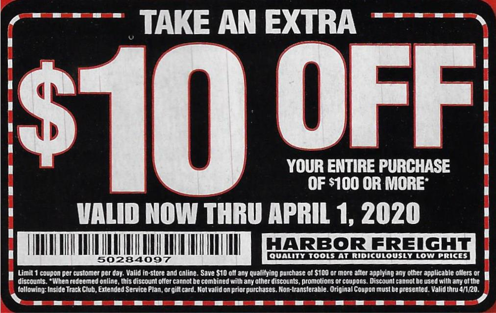 This is an image of Handy Harbor Freight 25 Off Coupon 2020 Printable